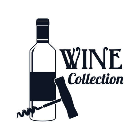 cork screw: wine bottle with corkscrew label