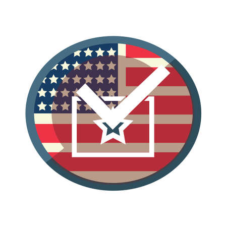check box: usa flag with check box