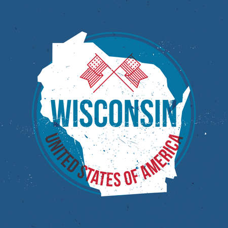 wisconsin: map of wisconsin state label