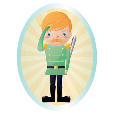saluting: soldier saluting Illustration
