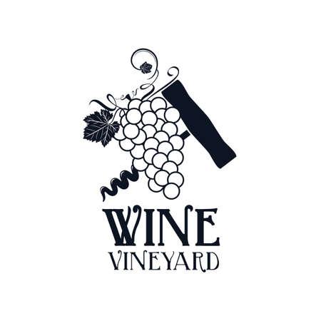 cork screw: vineyard label