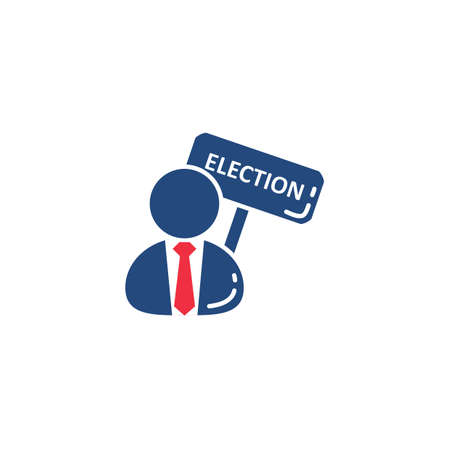 president of the usa: man with election placard Illustration
