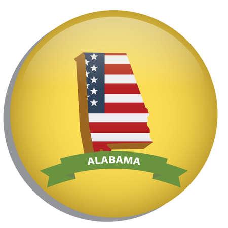 alabama: map of alabama state