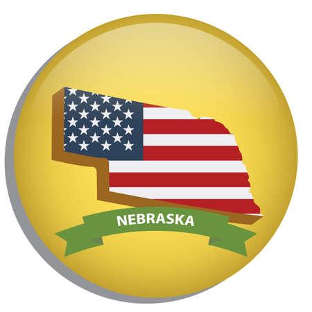 nebraska: map of nebraska state