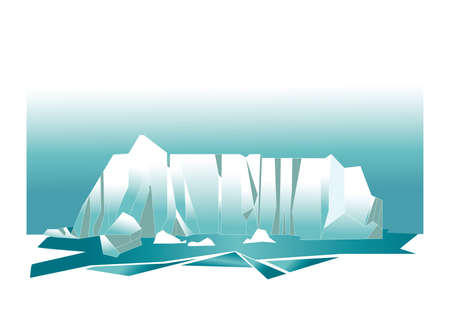 glacier: glacier mountains Illustration