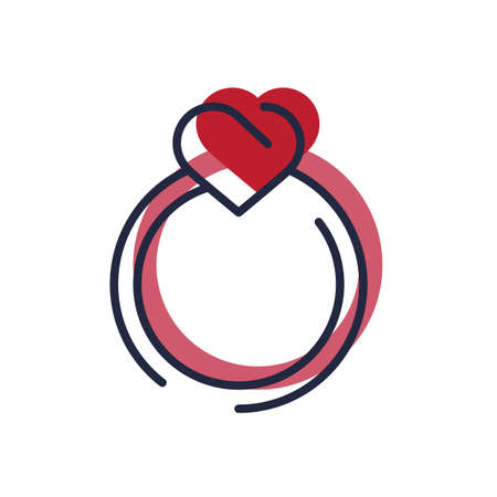 commitments: heart shaped ring Illustration