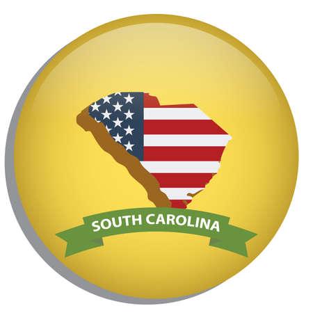 south carolina: map of south carolina state