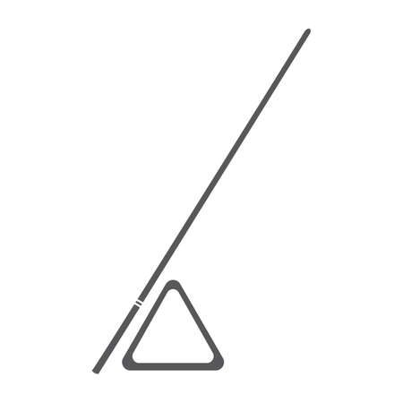 snooker: snooker triangle and cue Illustration