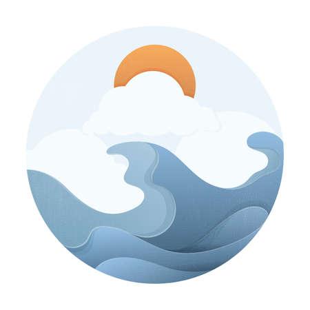 ocean waves: ocean waves with sun
