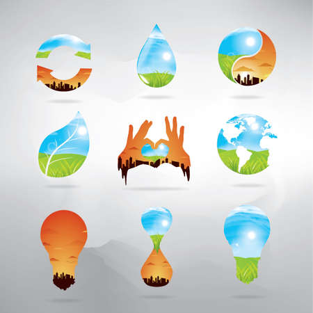 exposicion: colecci�n de iconos de doble exposici�n