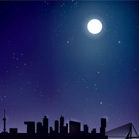 minaret: night sky background Illustration