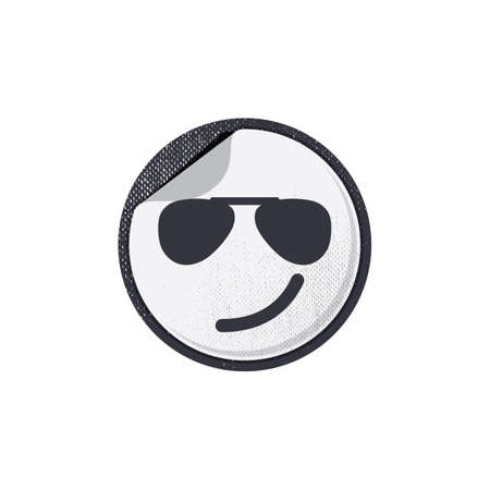 smirk: emoticon with a smirk Illustration