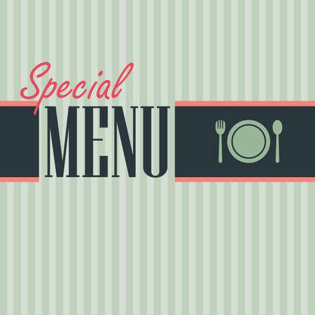 Restaurant-Menü-Karte Vektorgrafik