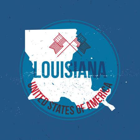 louisiana state: map of louisiana state label