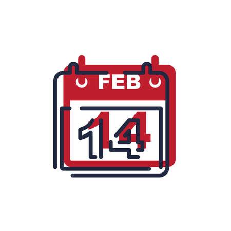 feb: valentines date calendar