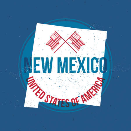 new mexico: map of new mexico state label