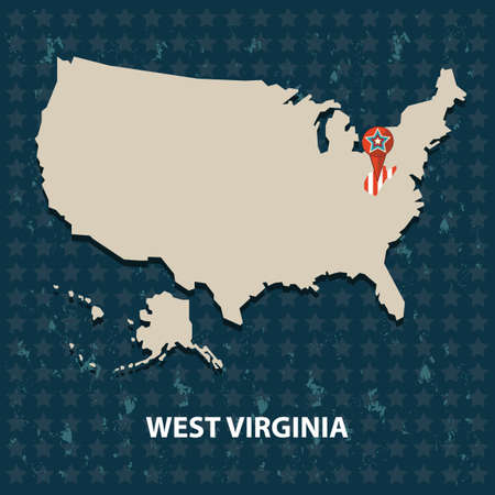 West Virginia Map Stock Vector Illustration And Royalty Free - Virginia map of us