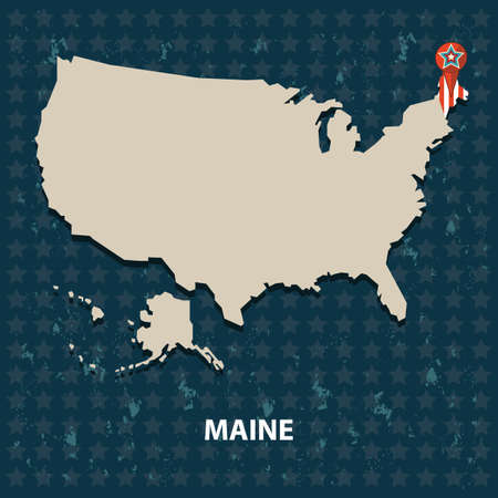 maine: maine state on the map of usa
