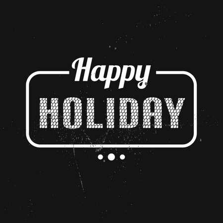 happy holidays: happy holidays card