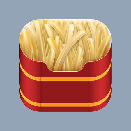 french fries: french fries Illustration