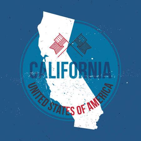 california state: map of california state label