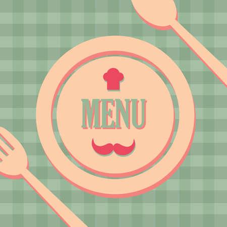 eatery: restaurant menu card Illustration