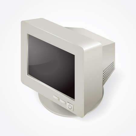 old pc: computer monitor Illustration