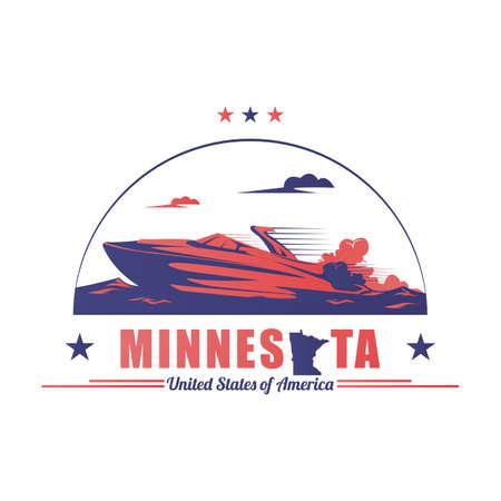 stato Minnesota Vettoriali