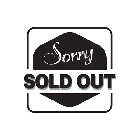 sold: sorry sold out text