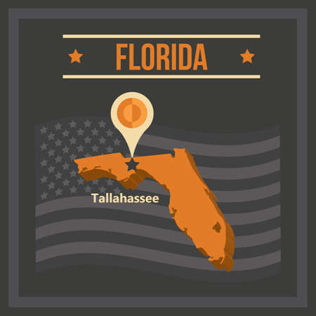 tallahassee: map of florida state