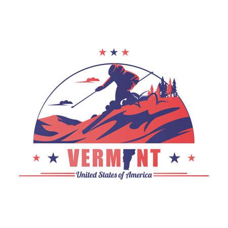 area: stratton mountain ski area Illustration