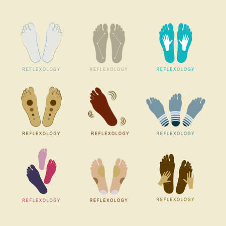 reflexology: infographic of reflexology