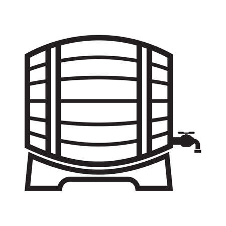 wooden barrel: wooden barrel with faucet