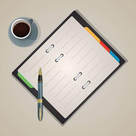 diary: pen and diary Illustration