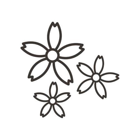 sap: frangipani flower Illustration