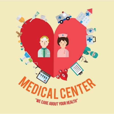 medical center: infographic of medical center