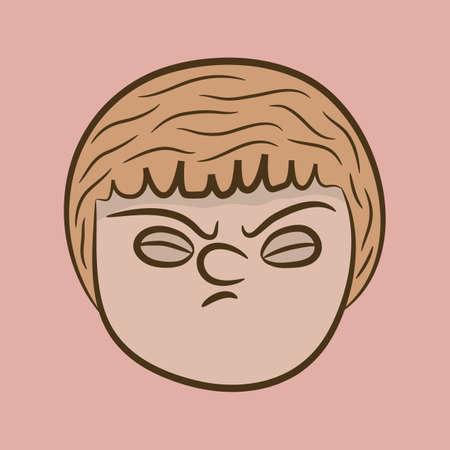 irritated: boy feeling irritated