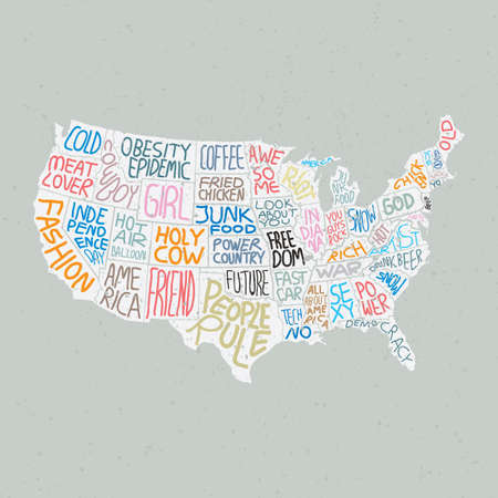 meat lover: quotes in american map