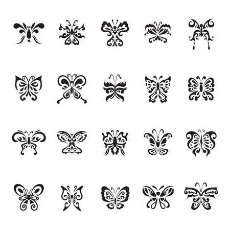 Tatouage de papillon jeu Banque d'images - 53292528