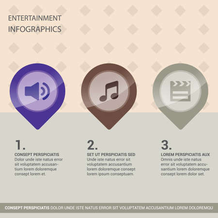 entertainment: entertainment infographic Illustration