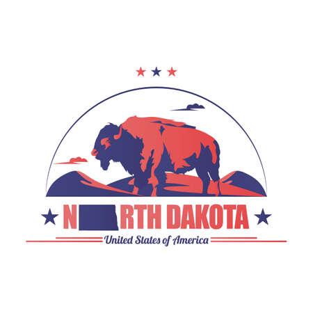 north dakota: bisons of north dakota state