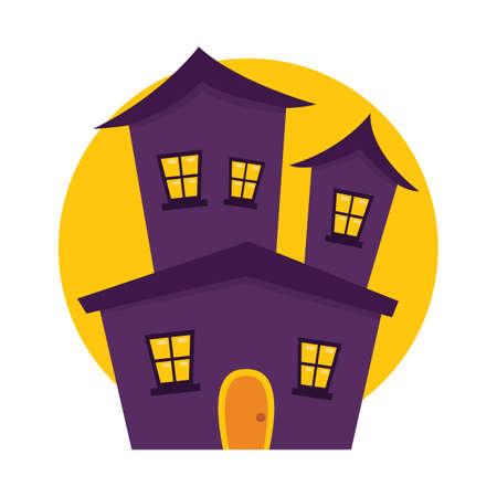 multiple house: haunted house Illustration