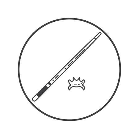 cue: snooker cue Illustration