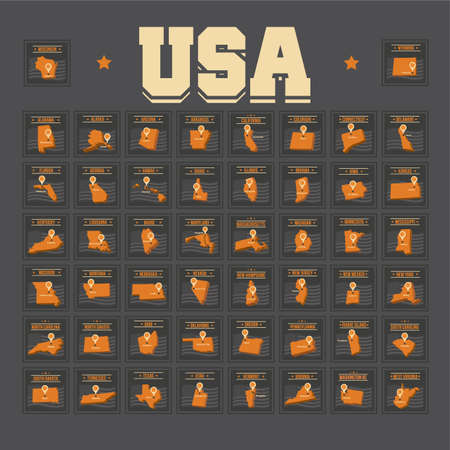 collection of fifty united states of america