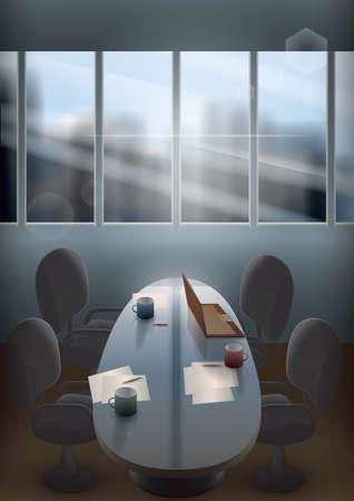 room: conference room Illustration