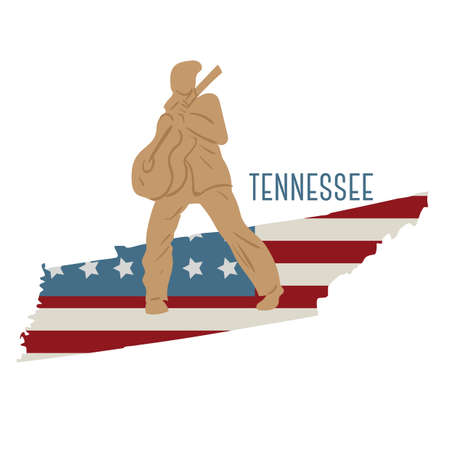 Tennessee State kaart met elvis presley