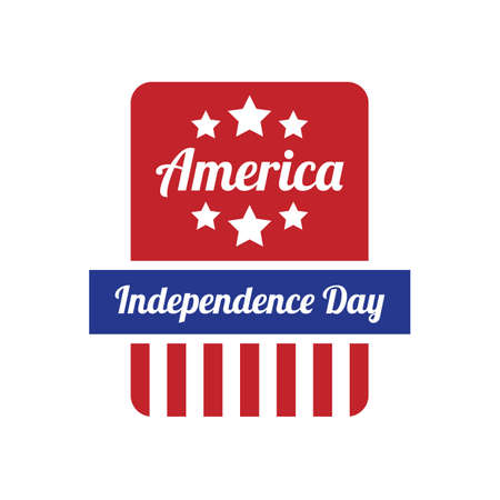the day: america independence day label
