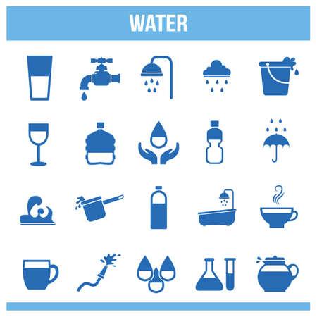 various: various water icons set Illustration