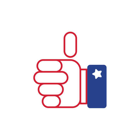 president of the usa: thumb up Illustration