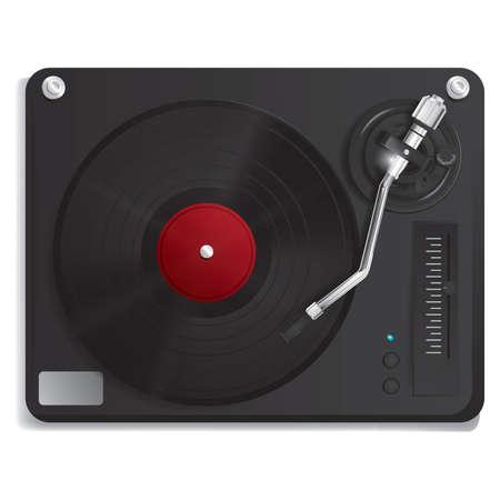turntable: dj turntable Illustration